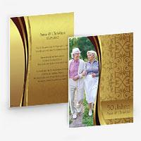 Einladungen zur Silberhochzeit, Goldhochzeit, silbernen oder goldenen Hochzeit