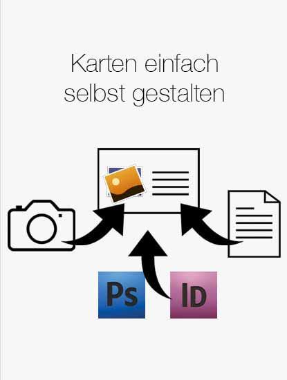 Druckprodukte zum Selbstgestalten für die Umsetzung eigener Designs von Dankeskarte.com