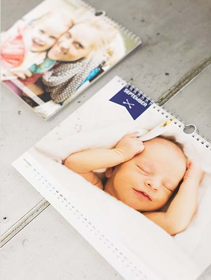 Fotokalender drucken lassen bei Dankeskarte.com