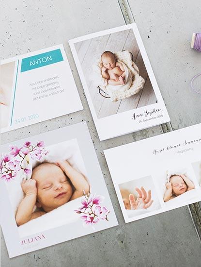 Geburtskarten durcken lassen bei Dankeskarte.com